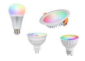 Led verlichting met afstandsbediening, losse lampen