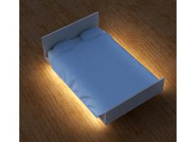 Led strips voor onder het bed